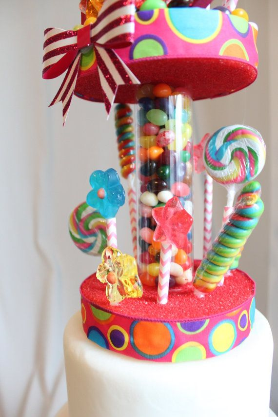 Candy Land Cake Topper by OverTheTopCakeTopper on Etsy