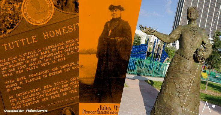 """#tbt #1896 #JuliaTuttleDeForest, la 'Madre de Miami' la única mujer fundadora de una ciudad importante de los #EstadosUnidos. Viuda del visionario de Ohio, compró cientos de acres en lo que hoy es el centro de #Miami, decidida por el fabuloso clima de la #Florida, se trasladó al sur en una barcaza. Finalmente convenció al magnate #HenryFlagler de extender su nuevo ferrocarril al río: """"Le puede parecer extraño, pero es el sueño de mi vida ver este desierto convertirse en una ciudad próspera""""."""
