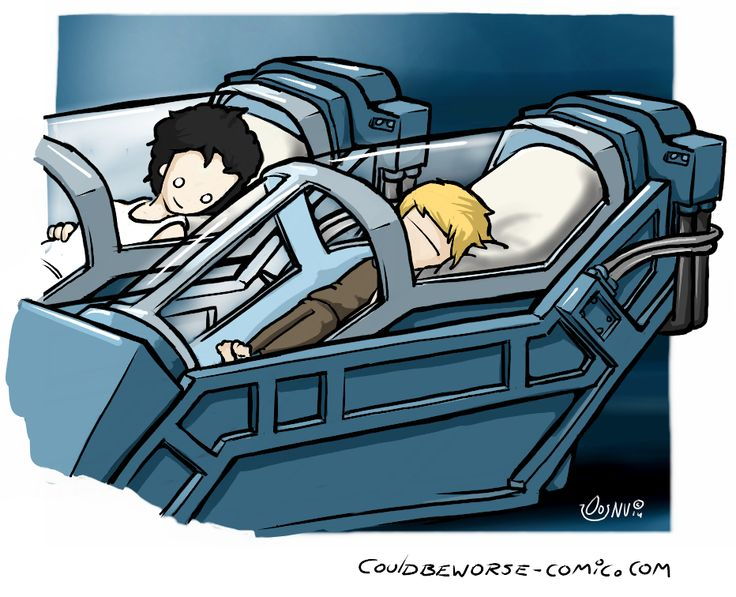 Goodnight Newt, hope nothing happens to you between this movie and the next! Aliens cartoon art, hyper-sleep chamber with Ripley and Newt