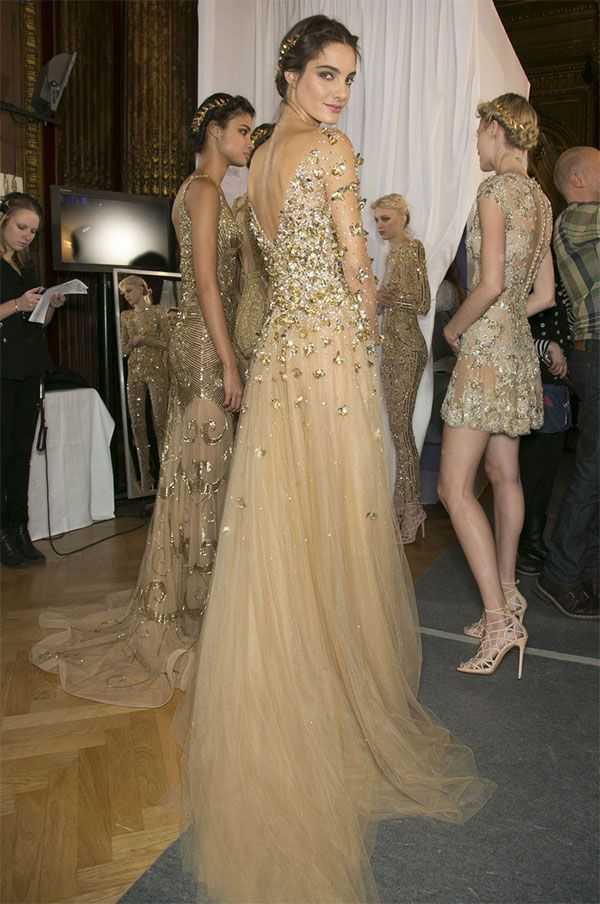 cool chic style fashion: The midas touch | backstage zuhair murad | haute couture