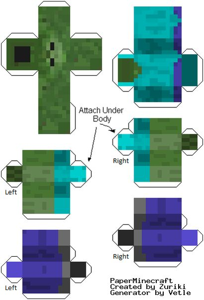 Printable minecraft guys - cute table decorations