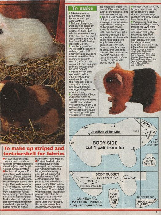 Free Guinea Pig Pattern 2/2