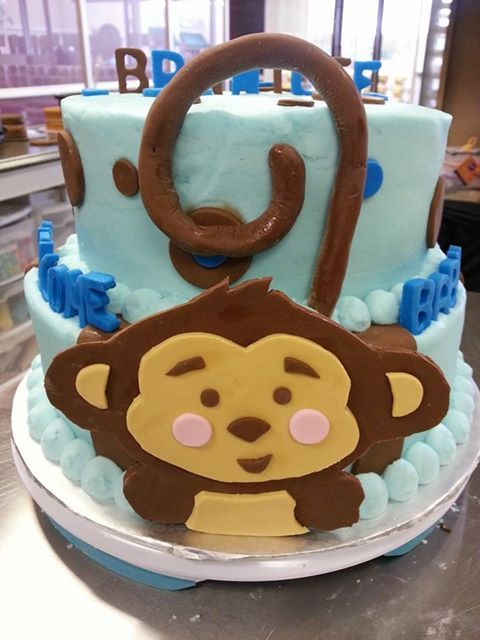 1000 images about monkey baby shower cakes on pinterest personalized baby cakes and baby - Baby shower monkey pictures ...