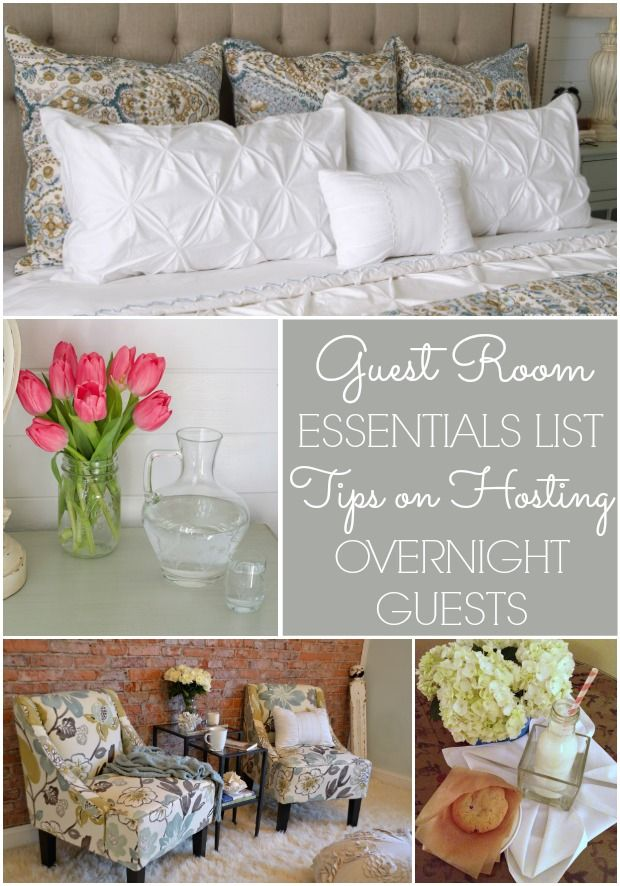 Guest Room Essentials List  Tips for Hosting Overnight Guests. 17 Best ideas about Guest Room Essentials on Pinterest   Guest