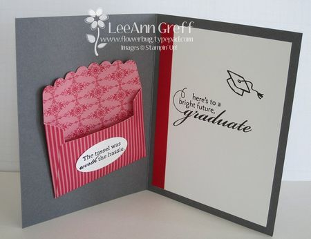 Card with Gift Card holder inside using the Scallop Envelope die from Stampin' Up