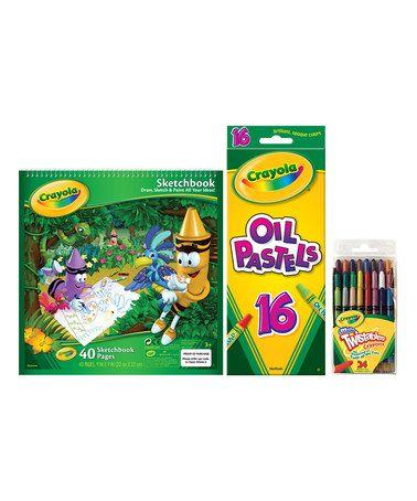 Look at this #zulilyfind! Crayola Sketch Book, Oil Pastels & Twistables Crayons #zulilyfinds