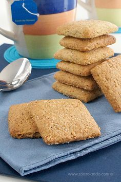 Biscotti rustici al grano saraceno - Buckwheat cookies