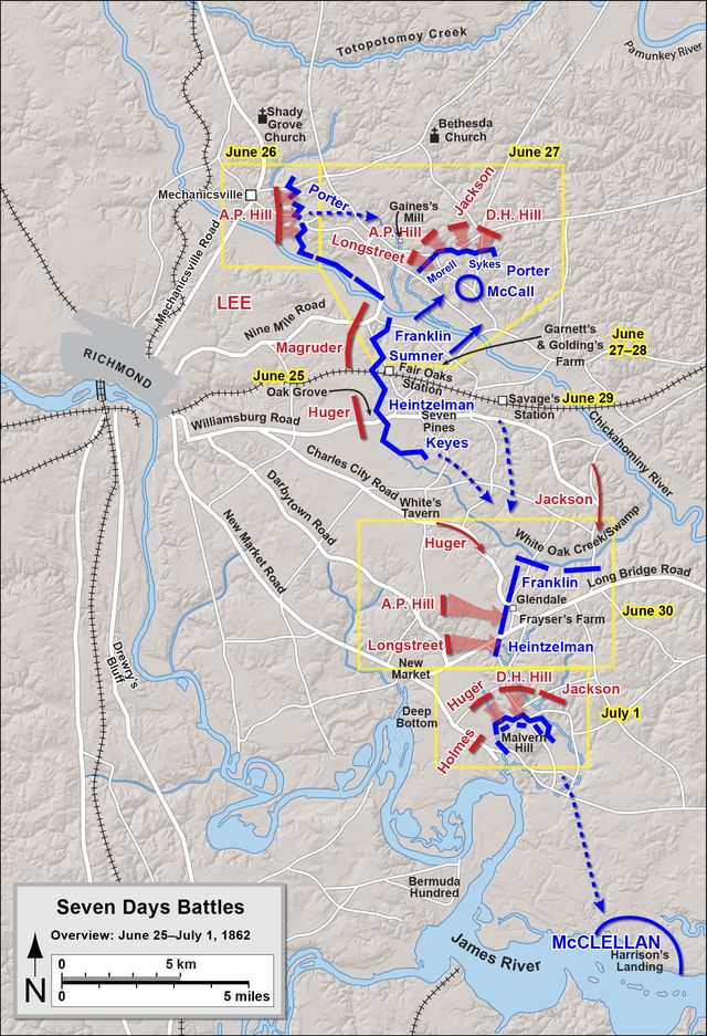 Seven Days Battles, Virginia overview - George B. McClellan - Wikipedia, the free encyclopedia