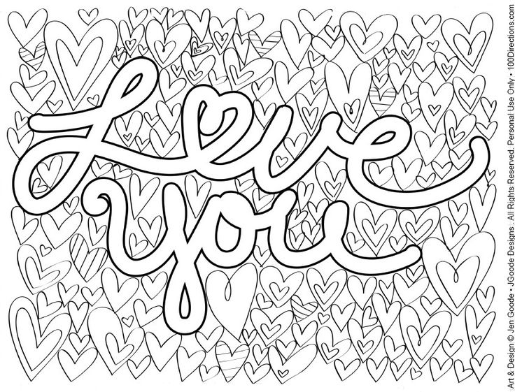 364 Best Adult Colouringheartslove Zentangles Images On - love coloring pages