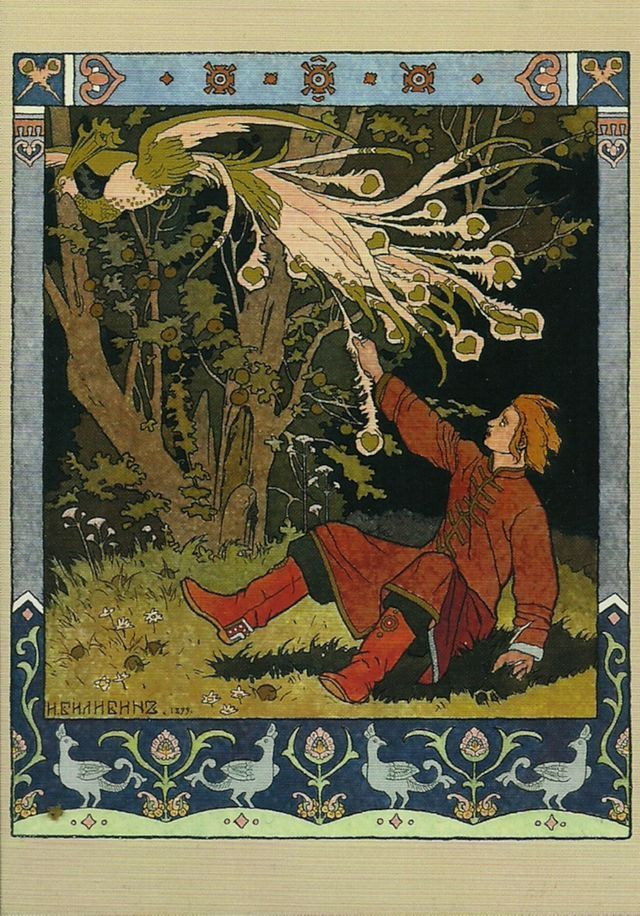 "sandytree1:  ""Wow, I love this style of illustration! Reminds me of Alfonso Mucha only with a folkloric twist. The guy's name is Ivan Yakovlevich Bilibin (1876-1942). ""Throughout his career, he was inspired by Slavic folklore."" ""  Bilibin definitely..."