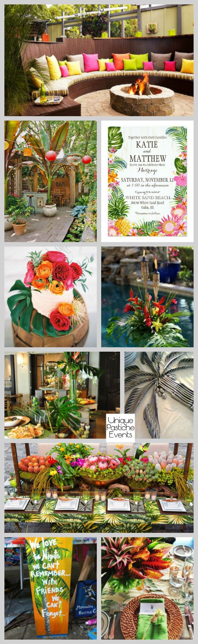 Tropical Backyard Engagement Party IdeaBoard InspirationBoard