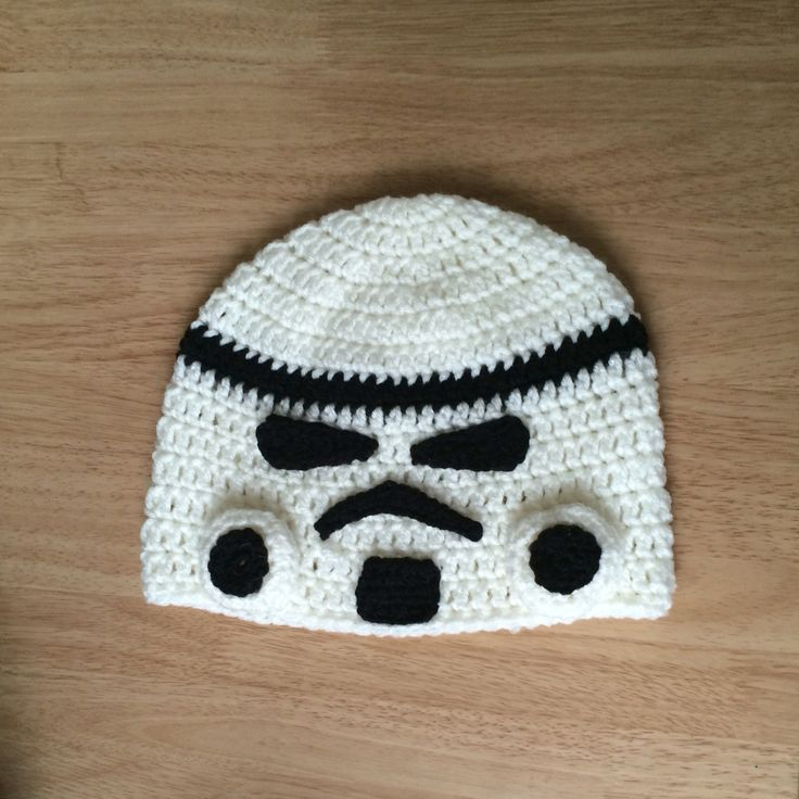 Free #crochet pattern:  Star Wars storm trooper hat. #starwars http://tampabaycrochet.blogspot.com/2015/12/free-crochet-pattern-star-wars-storm.html?m=1