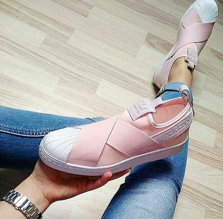 new concept e0b5d c9d72 superstar slip on Pink