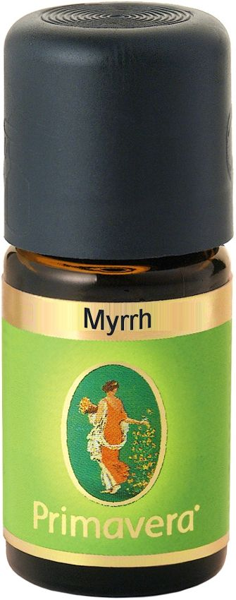 Primavera Myrrh Essential Oil referred to the resin of the myrrh tree, native to West Africa. #Myrrh is used in natural medicine for oral care, ulcers & skin wound problems, stomach, colon, as well as bronchitis infections & colds and joint problems. In perfumery it is used as a fixative. Myrrh is balancing, helpful with meditation and purifying. Myrrh can be used in a diffuser, in body oils and is excellent as an air freshener. NATRUE Certified. Vegan. #Aromatherapy