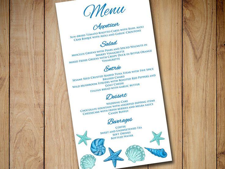 The 25 best Wedding menu template ideas – Wedding Menu Template