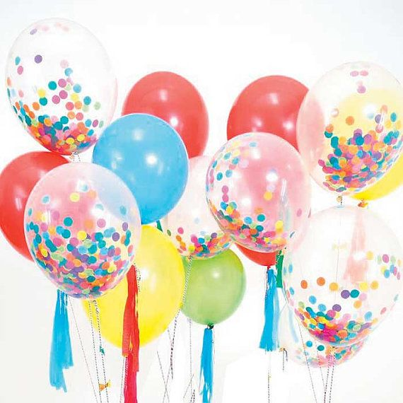 Toot Sweet Confetti Balloon Kit Confetti Balloons with Streamers and Gold Foil Bows & Stickers Helium Balloon Party Supplies on Etsy, $21.18 AUD