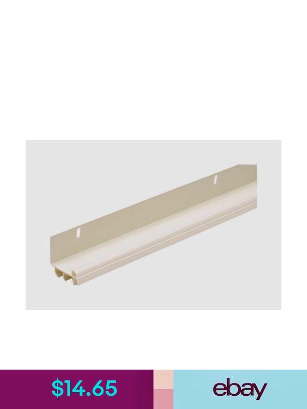 "New 06528 M-D Building 36/"" White U-SHAPED Vinyl Bottom Door Weather Seal w// FINS"