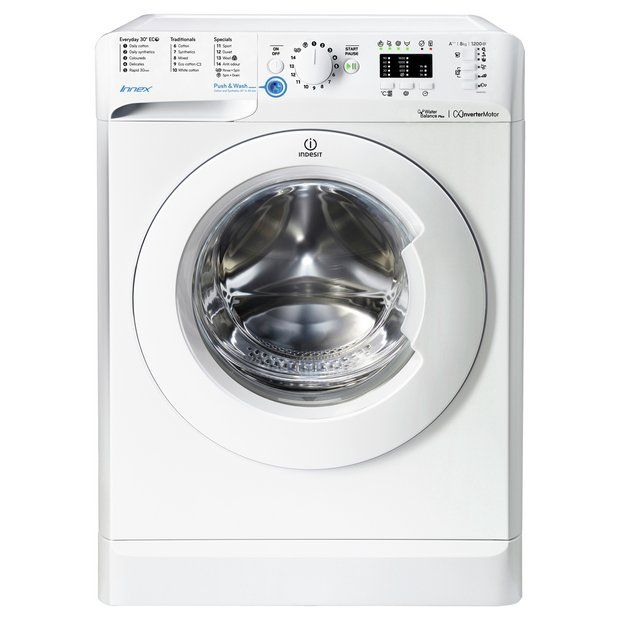 Buy Indesit BWA81283X 8KG 1200 Spin Washing Machine - White at Argos.co.uk - Your Online Shop for Washing machines, Large kitchen appliances, Home and garden.