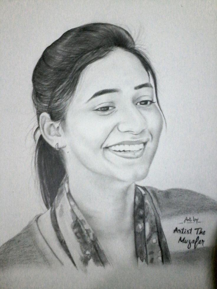 Priyanaka jasrotia sketch by artist the muzafar