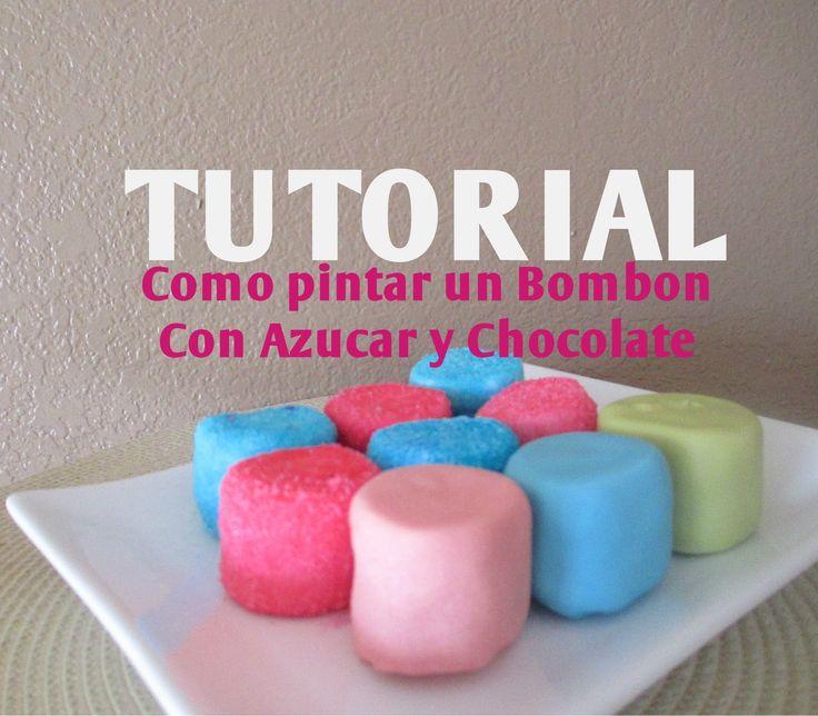 Cómo pintar azúcar de colores para decorar una paleta de bombón - Madeli...