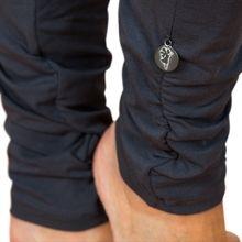 Wrinkled leggings - dark grey