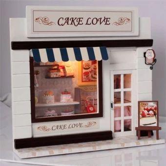 ของดี  CUTEROOM DIY Model Handmade Craft Cake House 3D Dollhouse for KidsGift Home Decor. (Intl)  ราคาเพียง  1,223 บาท  เท่านั้น คุณสมบัติ มีดังนี้ With LED light& Cartoon creative personality design Good choice as a present for child/friend/family Make yourself a fine arts and crafts Size: 20*7*18&cm Home Decoration