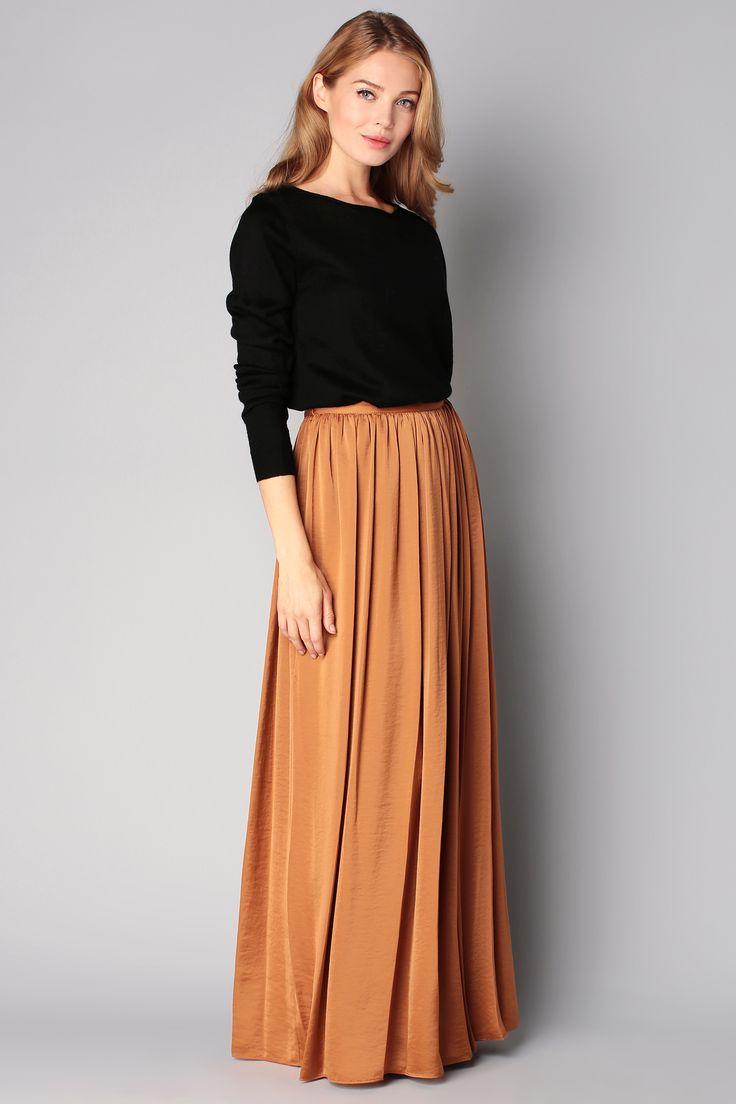 les 25 meilleures id es de la cat gorie jupes longues sur pinterest tenues de jupes longues. Black Bedroom Furniture Sets. Home Design Ideas