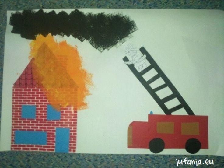 Crea: brand in huis Doel: knippen/ plakken