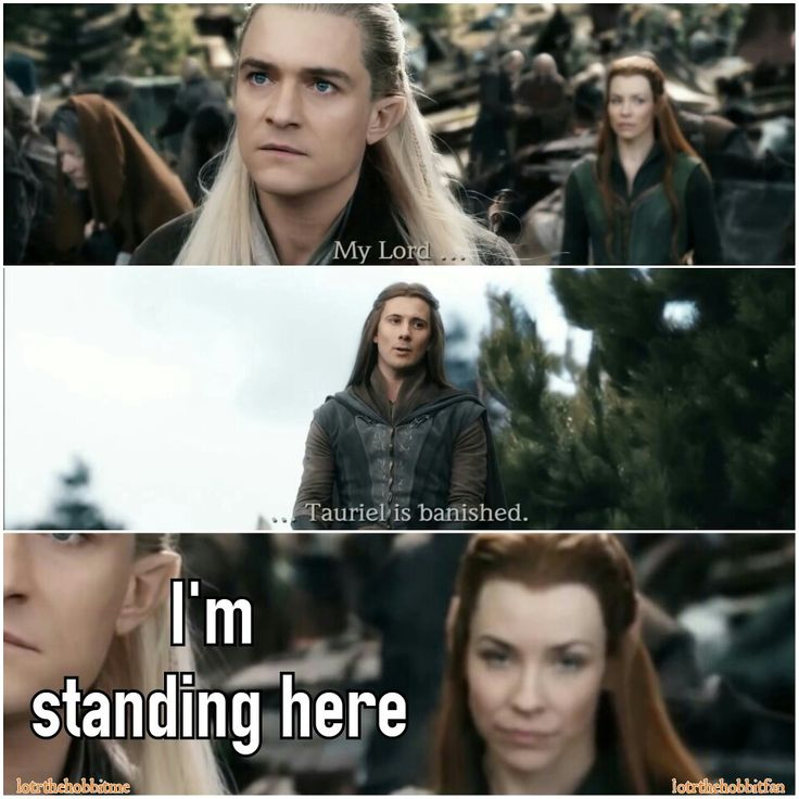 I'm standing right here. They just totally ignore Tauriel  #TheHobbit #BOTFA #Legolas #OrlandoBloom #Tauriel #EvangelineLilly @elofficial