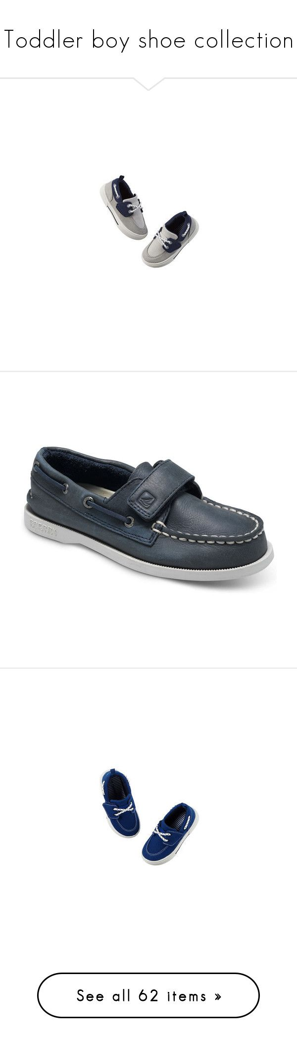 """""""Toddler boy shoe collection"""" by fawn-fleur ❤ liked on Polyvore featuring sperry, toddler boy, navy leather, kids, shoes, sneakers, baby, baby boy, vans shoes and lace up high top sneakers"""
