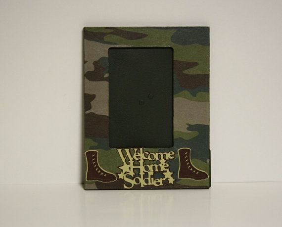 Welcome Home Soldier picture frame by ITSHOWYOUFRAMEIT on Etsy, $15.00