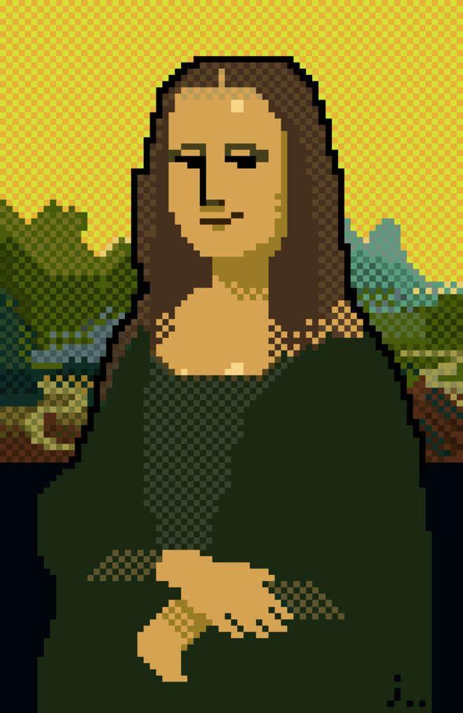 Des toiles de maîtres pixelisées pour l'amour de l'art
