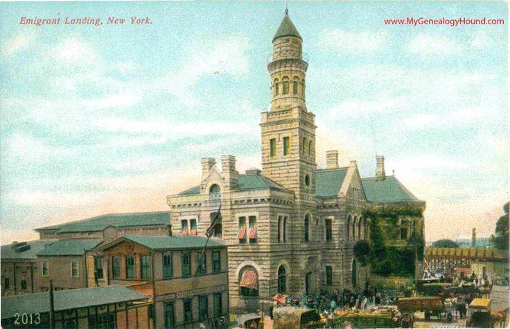 27 best ellis island images images on pinterest ellis island post cards vintage and vintage for Castle garden immigration records