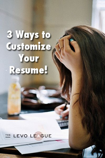 "Here's some information on how to ""tailor"" or customize a resume to a job."