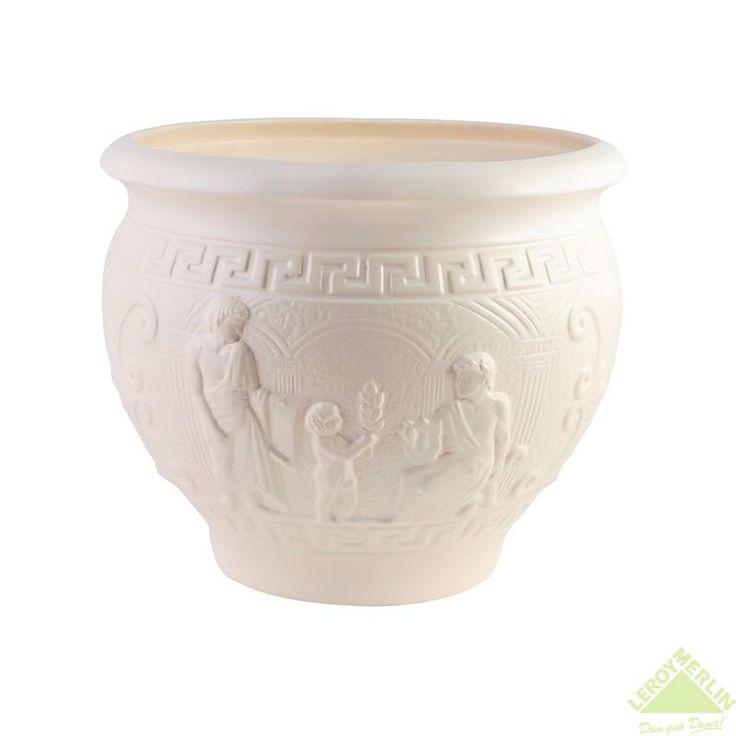 Горшок керамический с поддоном Олимпия, диаметр 26,5 см, 8,1 л