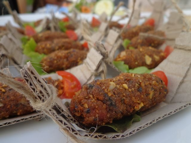 raw food and vegan slovak traditional sausage