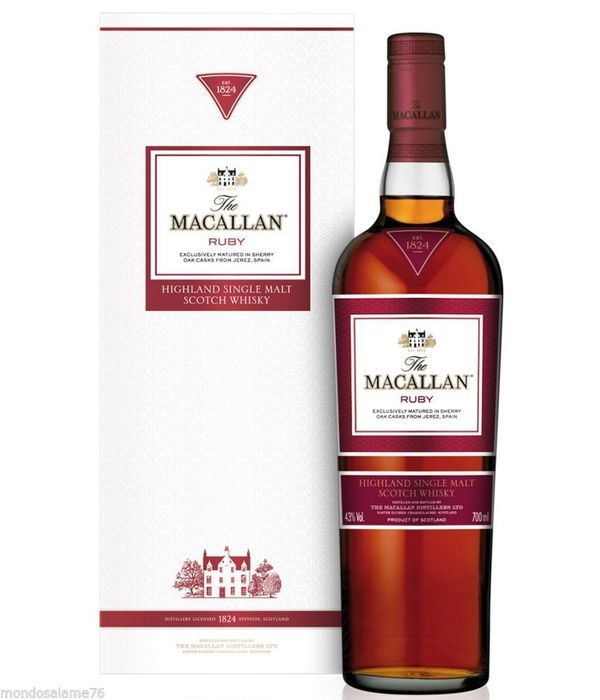 Catawiki online auction house: The Macallan Ruby Whisky - The 1824 Series met verpakking/doos