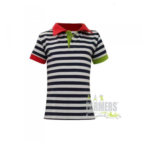 Dámské tričko s límečkem NAVY námořník  Kliknutím zobrazíte detail obrázku.