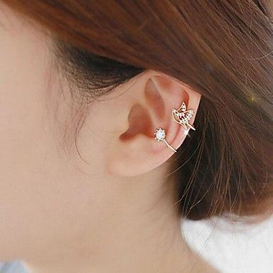 USD $ 2.99 - No Hole Bird Diamond Earring, Free Shipping On All Gadgets!