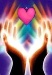Healing hand heart