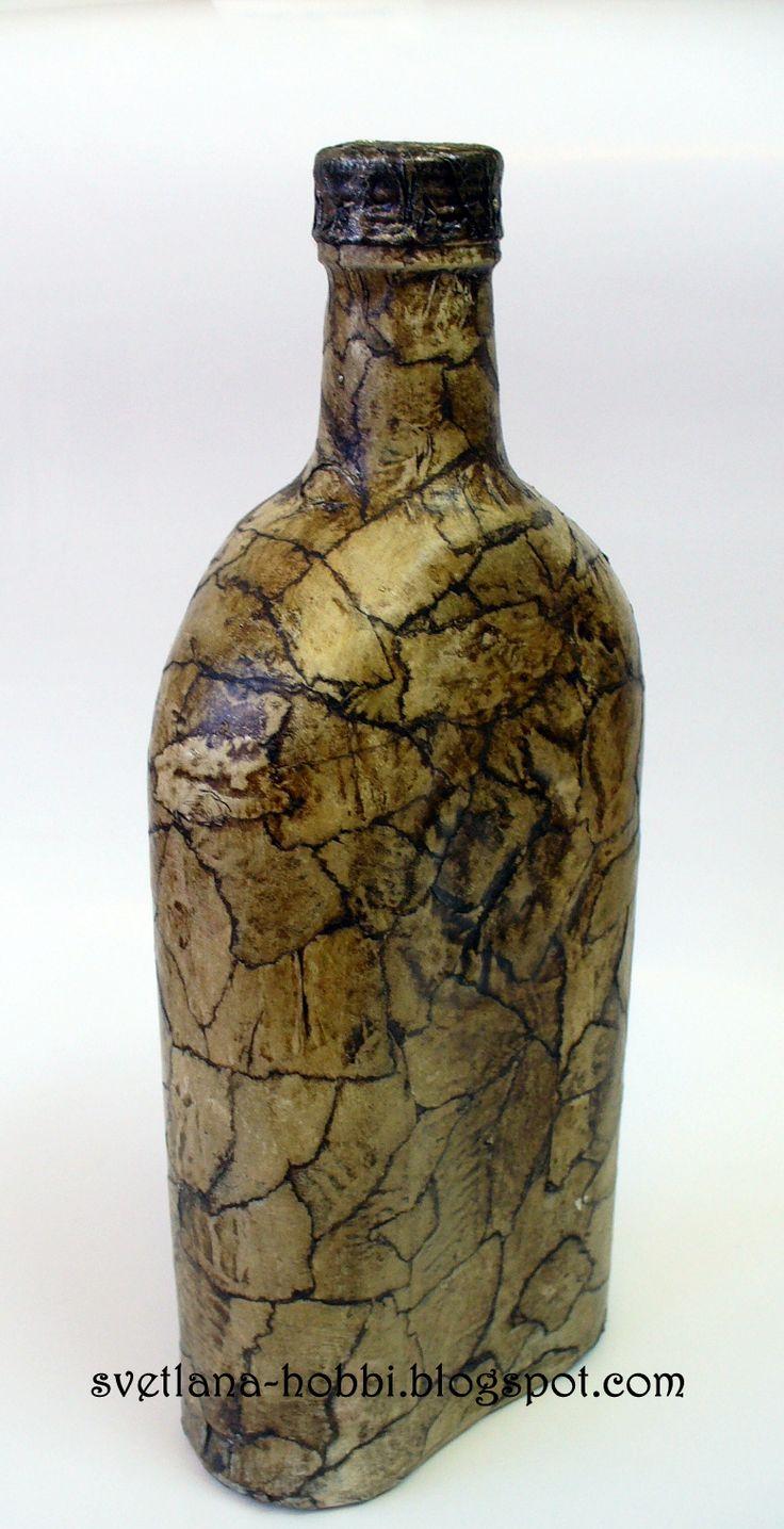 """Всем привет!  Наконец-то выкладываю обещанное описание """"каменной"""" бутылки. Вот такой"""
