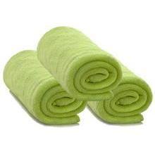 Kit 3 Cobertores Manta Bebe Microfibra Verde Abacate