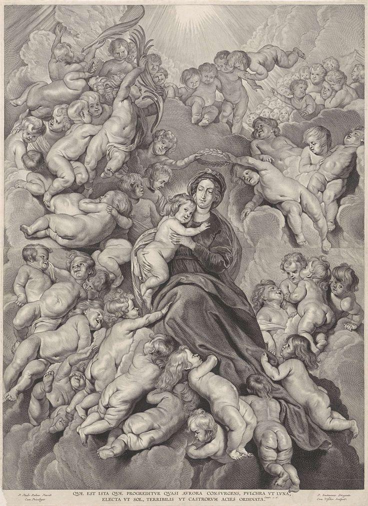Kroning van Maria, Cornelis Visscher (II), 1638 - 1658