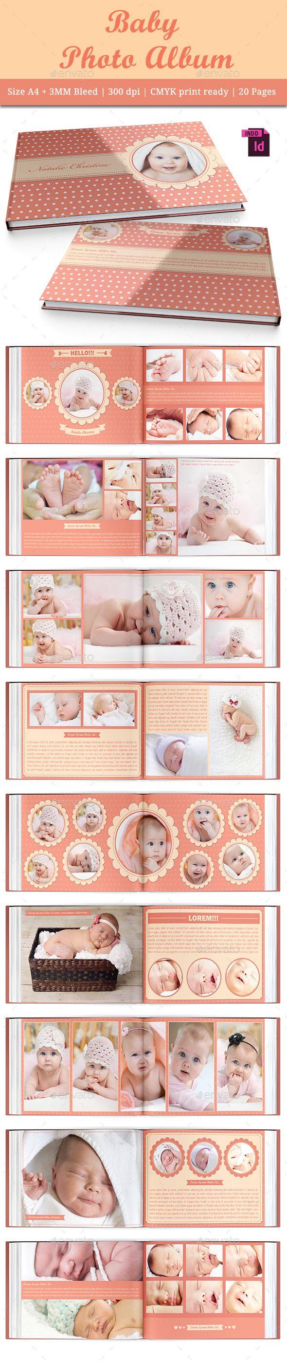 Baby Photo Album - Photo Albums Print Templates