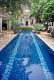 chinoiserie chic a greek key swimming pool