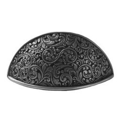 Notting Hill - Notting Hill Saddleworth Bin Pull - Antique Pewter - Notting Hill Decorative Hardware creates distinctive, high-end decorative cabinet hardware. Our cabinet knobs and handles are hand-cast of solid fine pewter and bronze with a variety of finishes. Notting Hill's decorative kitchen hardware features classic designs with exceptional detail and craftsmanship. Our collections offer decorative knobs, pulls, bin pulls, hinge plates, cabinet backplates, and appliance pulls. ...$38