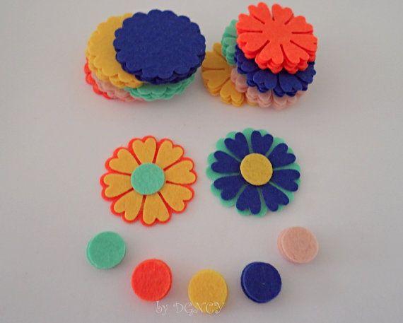 Die cut felt flower set 75 pcscraft suppliesFelt shapes by DGNCY