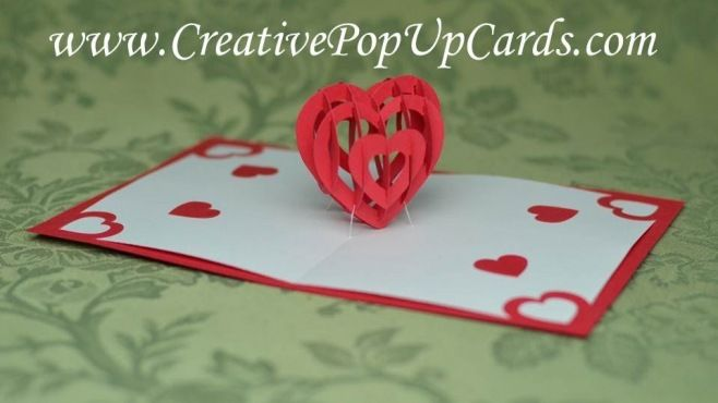 Kağıt Sanatı - Sevgililer Günü İçin Romantik 3D Kalp Tasarımı - Kağıt Sanatı - teknikleri, örnekleri ve ipuçlarını videolu anlatımı. Kağıttan hediyelik ve özel günler için Sevgililer günü için romantik 3D kalp yapımı (Valentine's Day Pop Up Card Tutorial 3D Heart Video)
