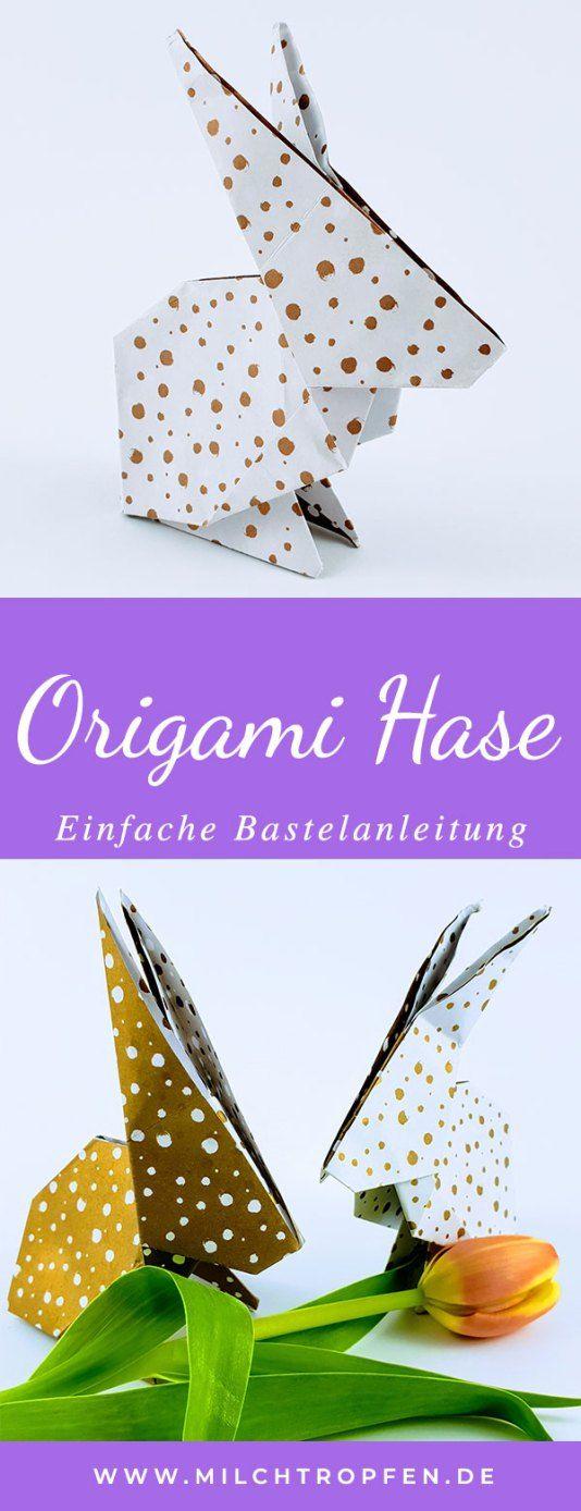 Maak een origami konijn. Eenvoudige instructies voor het knutselen met een origamikonijn. | …  – Blog: Milchtropfen  | milchtropfen.de