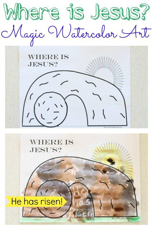 """Where is Jesus?""  Magic Watercolor Art Activity"